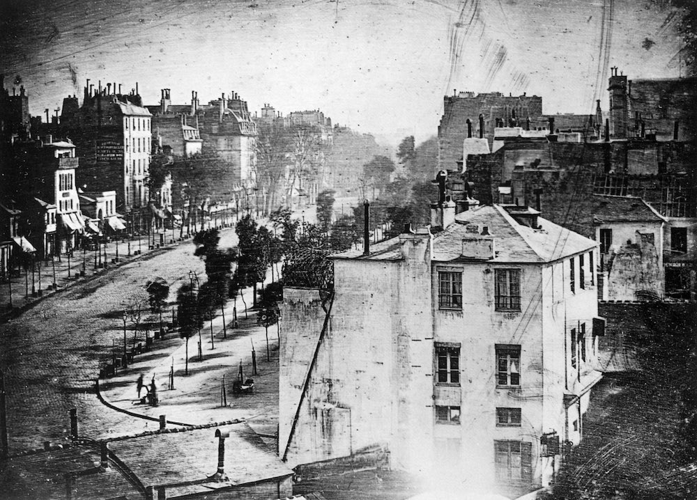 The First Photograph of a person